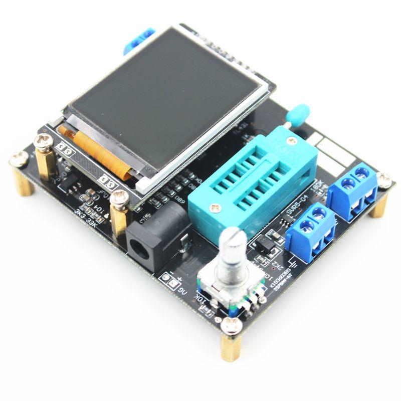 2017 Russe mega328 Complet Assemblé Transistor Testeur LCR Diode Capacité ESR mètre PWM onde Carrée Générateur De Signaux De Fréquence