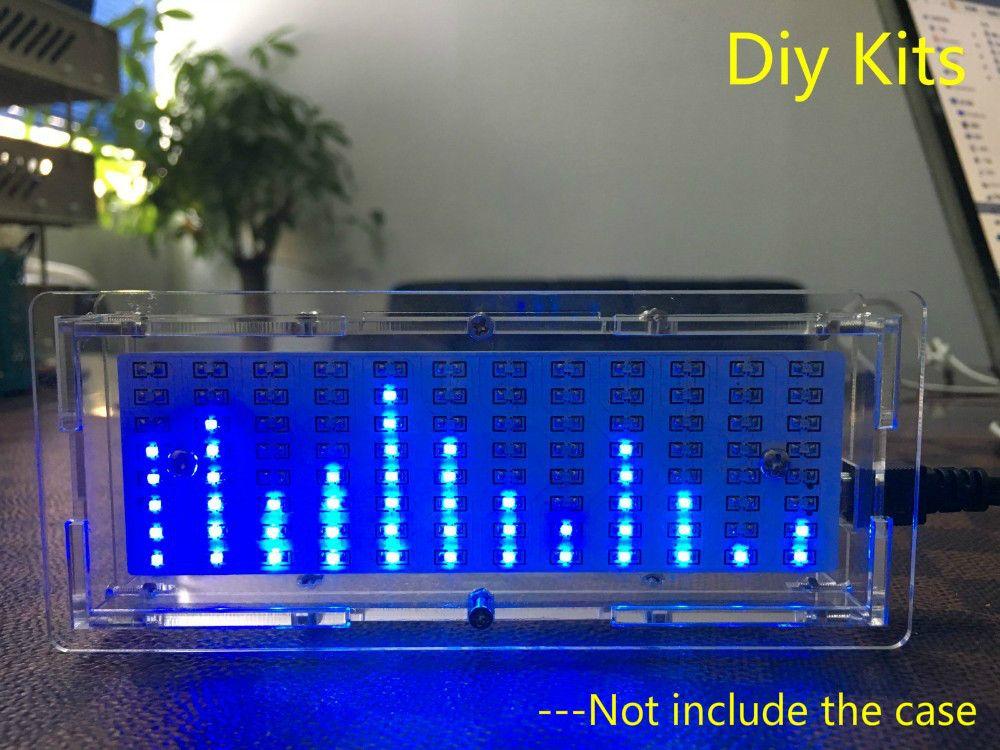 Aiyima singlechip светодиодный Музыка анализатор спектра индикатор уровня аудио MP3 PC Усилители домашние индикатор модуль DIY Наборы
