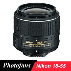 Nikon 18-55 lente Nikkor af-s DX 18-55mm f/3.5-5.6G VR II Objetivos para Nikon d3100 d3200 d3300 d3400 D5100 d5200 d5300 d5500 D40