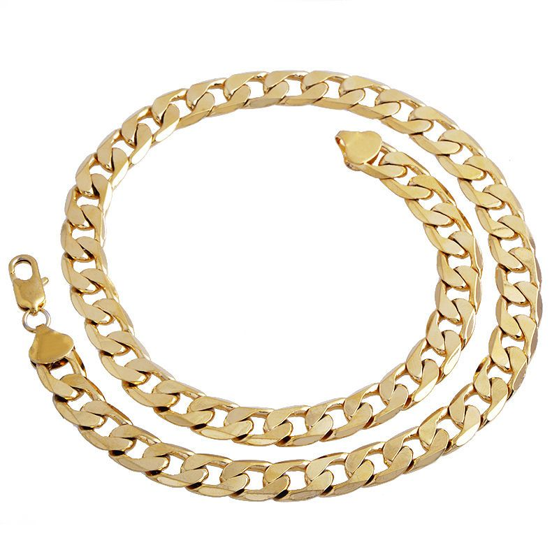 Gold Color Twisted Singapore Chain 24inch 7mm Gold Color Necklace For Women Men New Wholesale DIY Long Necklace Jewelry