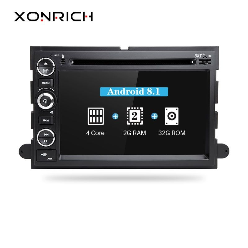 Xonrich 2 Din Android 8.1 Car DVD Player For Ford F150 F350 F450 F550 F250 2004-2008Fusion Expedition Mustang Explorer EdgeRadio