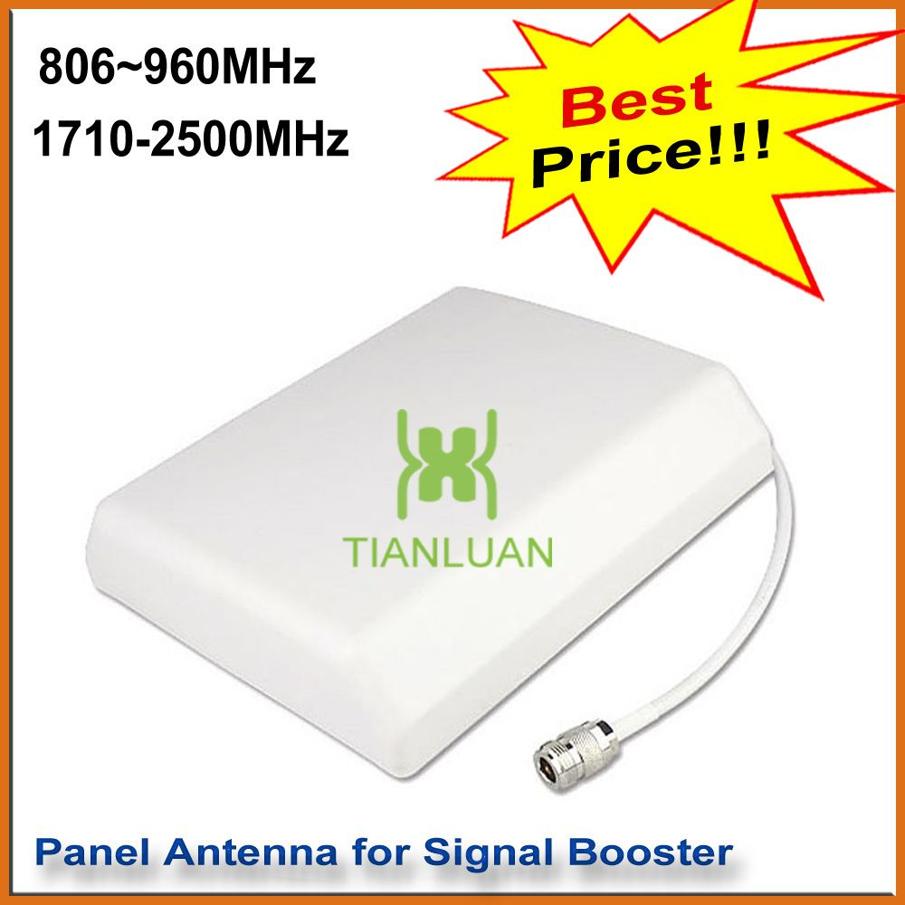 Intérieur Panneau Mural Antenne Extérieure Suspendus Planar Antenne pour 2G 3G CDMA GSM DCS PCS W-CDMA Téléphone Cellulaire Signal Booster blanc