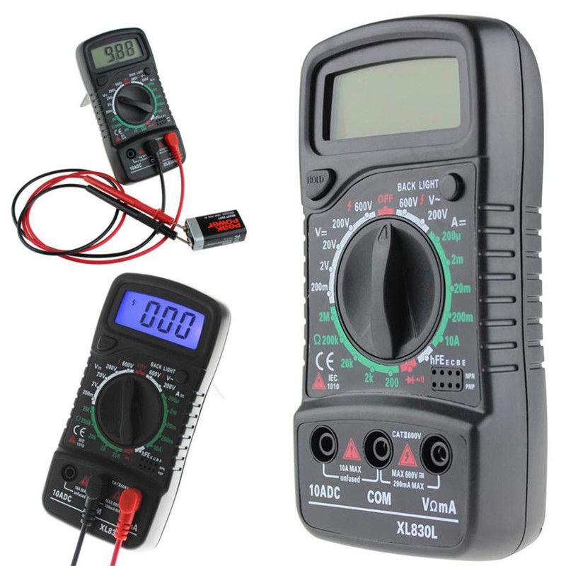 Multimètre numérique voltmètre XL-830L LCD multimètre voltmètre ampèremètre AC/DC/OHM volts testeur de courant