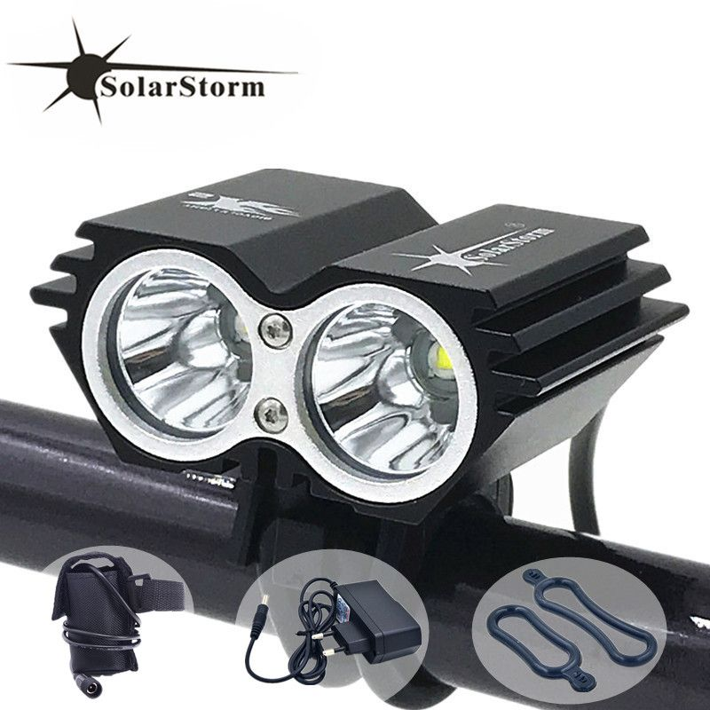 Cycling bicycle bike light 5000 Lumen 2x XM-L U2 LED flashlights lamps For Bike + 8.4V battery Pack + EU/US/UK/AU Charger