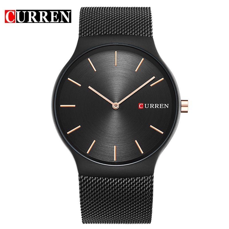 CURREN 2017 new black rose gold Pointer relogio masculino Luxury Brand Analog sports Wristwatch Quartz <font><b>Business</b></font> Watch Men 8256