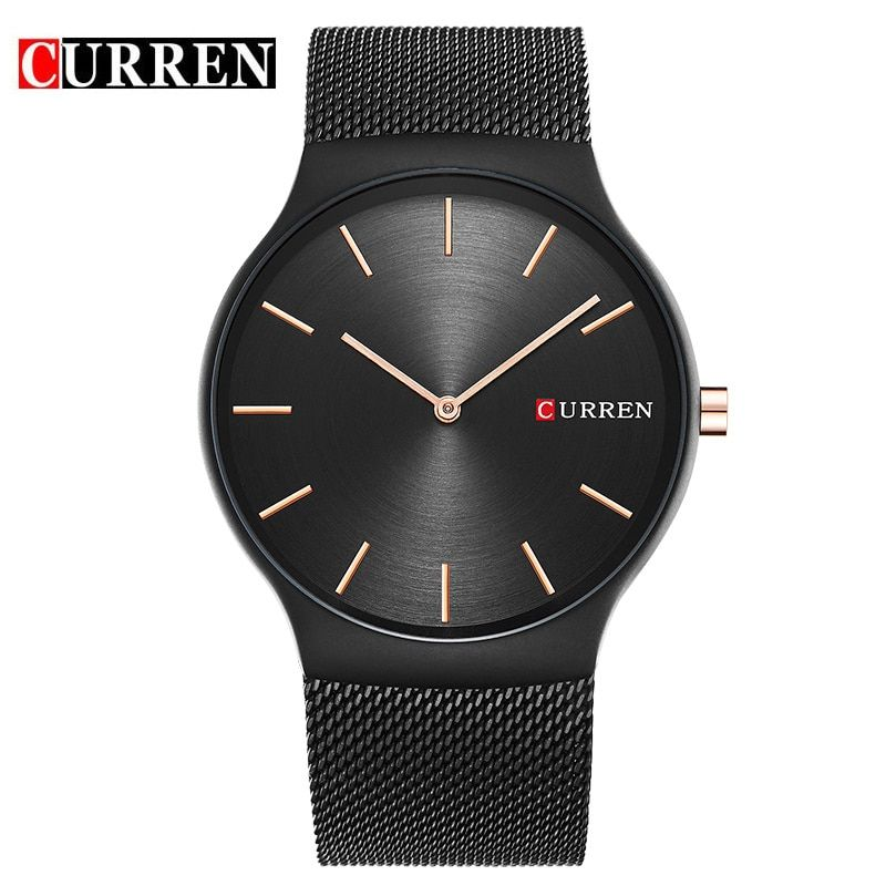 CURREN 2017 new black rose gold Pointer relogio masculino Luxury Brand <font><b>Analog</b></font> sports Wristwatch Quartz Business Watch Men 8256