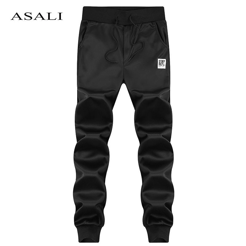 ASALI Brand Spring Casual Pants Men Skinny Mens Sweat Pants Male Cotton <font><b>Sportswear</b></font> Menswear Long Casual Trousers Straight Pants