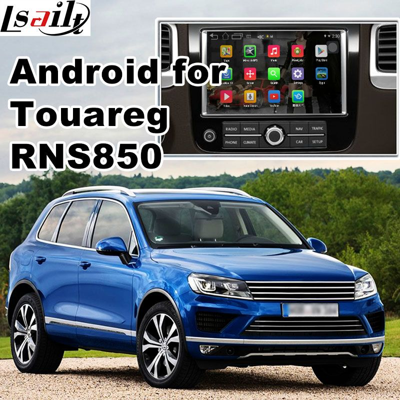 Android 6.0 GPS navigation box for Volkswagen Touareg RNS850 system video interface box with carplay youtube waze yandex navi