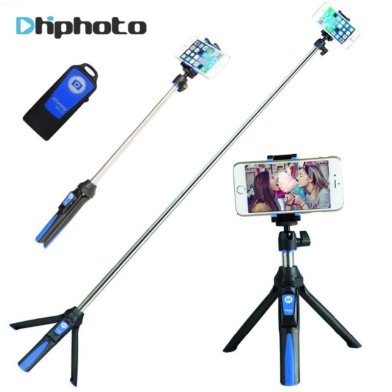 BENRO 33inch <font><b>Handheld</b></font> Tripod Selfie Stick 3 in 1 Bluetooth Extendable Monopod Selfie Stick Tripod for iPhone 8 Samsung Gopro 4 5