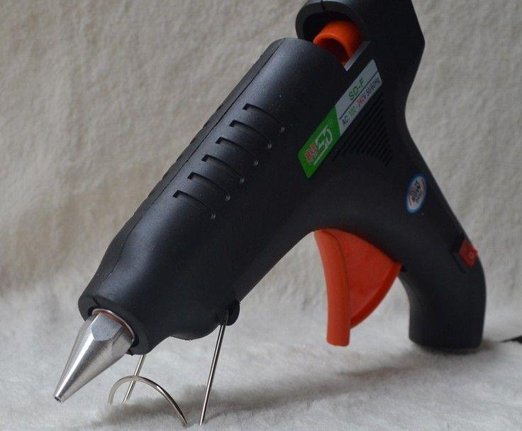 Pistolet à colle thermofusible 60 W pour sceller le bâton de cire 100-240 V outil de température de chaleur électrique adapté 11mm bâton de colle outil de bricolage US Plug et EU