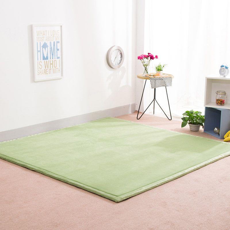2CM Thick Coral Fleece Mat Carpet Playmat 180*200*2CM Tatami Tea Table Baby Bedroom Carpet Rectangle Living Room Rug