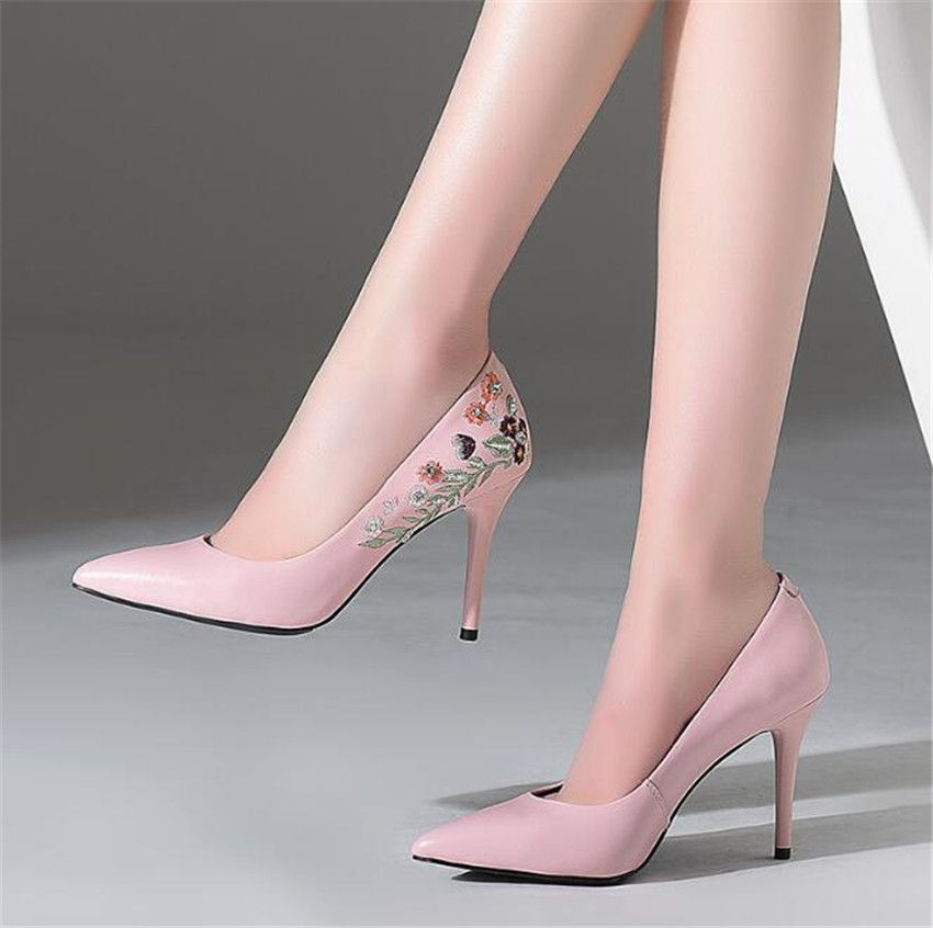 ZOUDKY 2018 south korean style Single shoes Shallow mouth Sharp head High-heeled shoes Fine heel sexy shoes