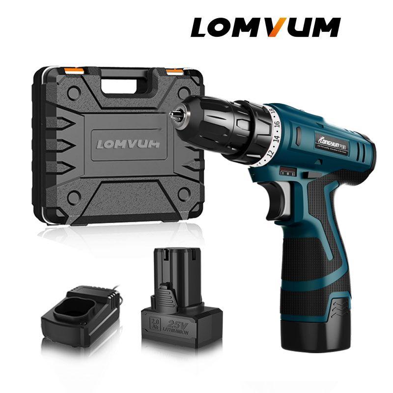 LOMVUM nouveautés tournevis électrique multifonction outils électriques perceuse électrique étanche Rechargeable Mini perceuse sans fil