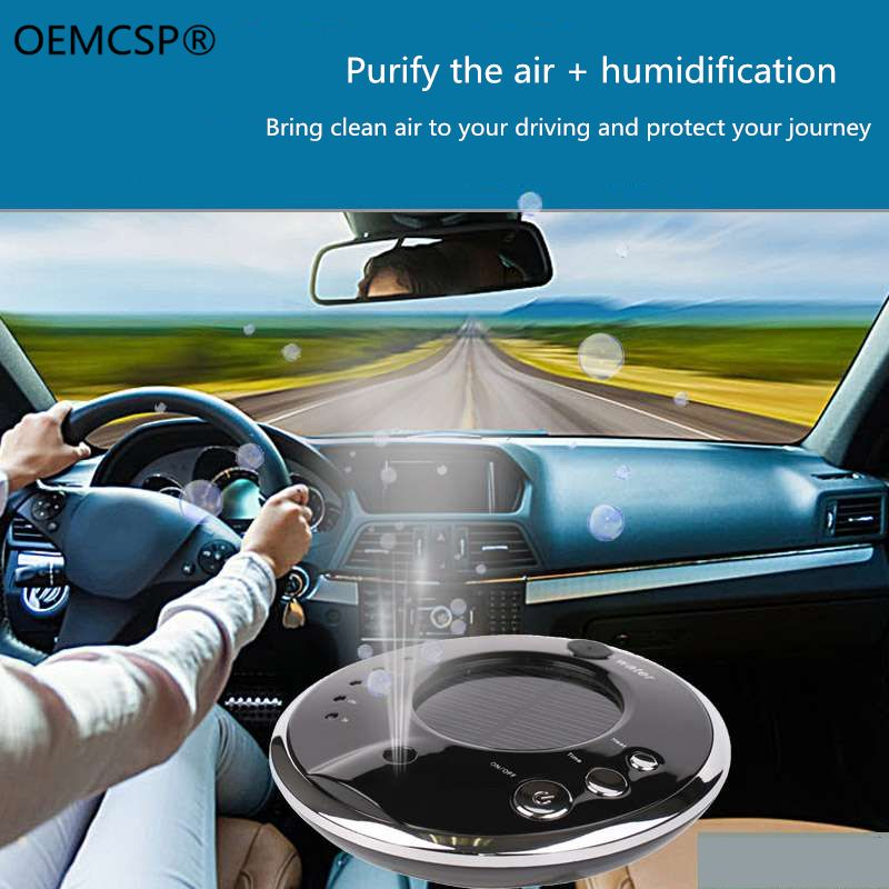 Car Air Purifier Auto Minus-Ion Removing Formaldehyde PM2.5 Apparatus Portable Car Air Cleaner Ionic UV HEPA Ionizer Fresh Ozone