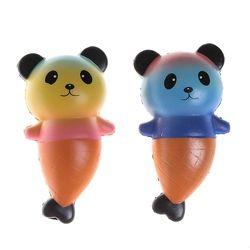 Colorful Lezat 2018 Jumbo Kawaii empuk Kue Mainan Hadiah Tali Squeeze Roti Beruang/Panda Es Krim Super Lambat Naik
