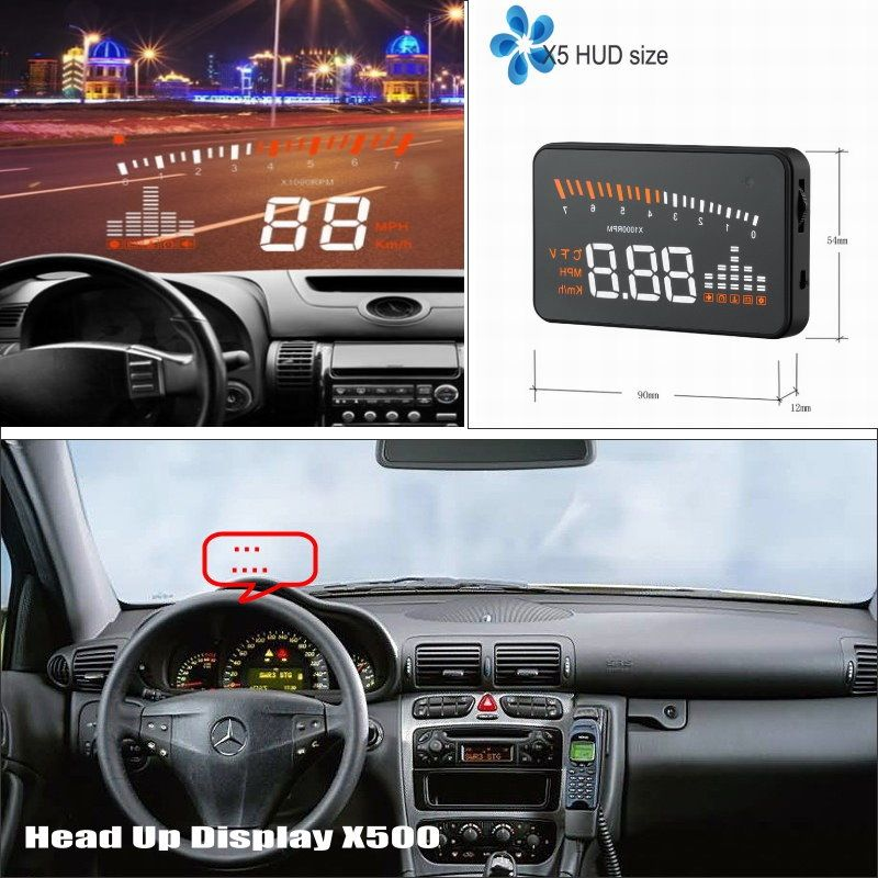 Car HUD Head Up Display For Mercedes Benz C Class W204 2007~2014 - Safe Driving Screen Projector Refkecting Windshield
