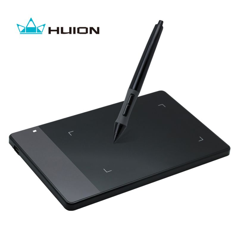 Huion 420 Professional Pen Graphics Drawing Tablet Signature Pad OSU! Tablet + Battery Pen -- Black and White
