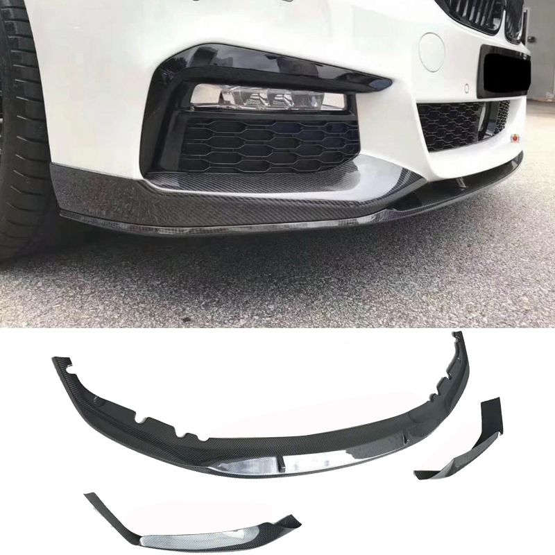P-er Style Carbon fiebr Front Lip Spoiler Splitter Fit For BMW G30 5-Series
