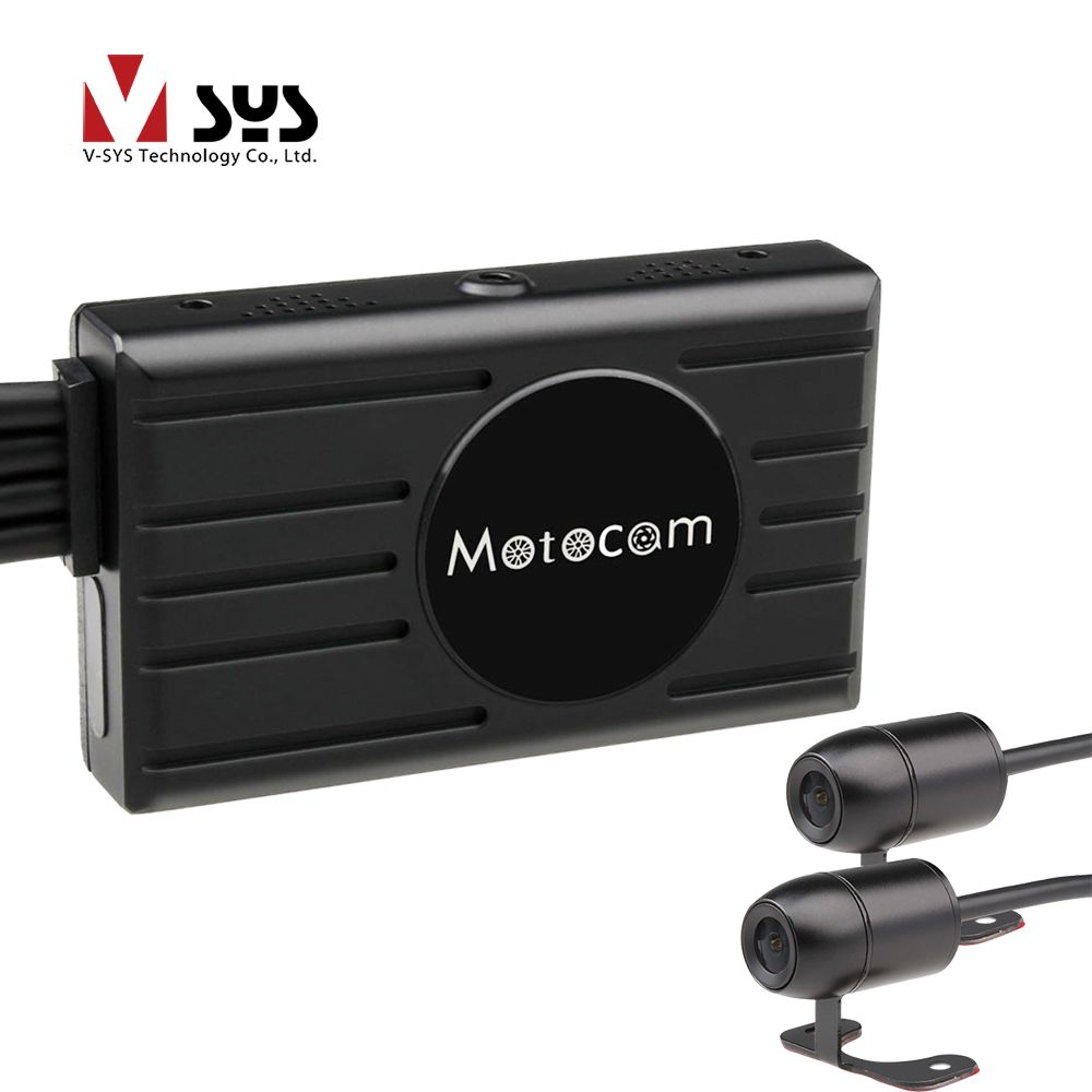 Vsys 3.0'' X2 Upgrade M2F WiFi Real FHD 1080P Dual Motorcycle Camera Dash Cam Front & Rear View Motorcycle DVR GPS G-sensor