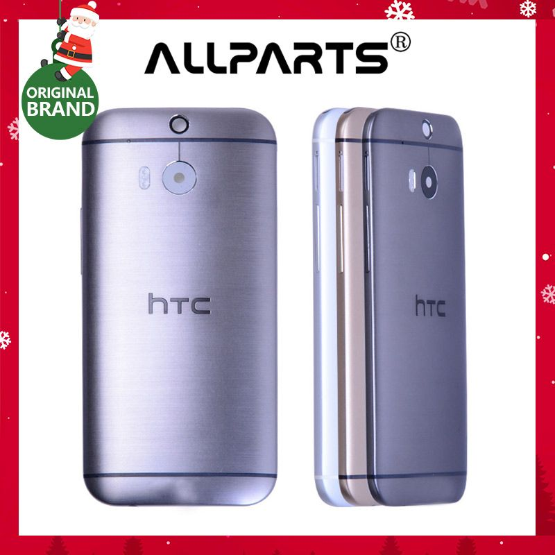 with NFC ORIGINAL Battery Cover For HTC One M8 Back Housing Case with Volume Power Button Camera Lens 831C Black Silver Gold