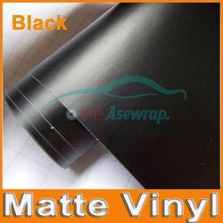 Prime Noir Mat Vinyle de voiture Wraps auto Satin Mat Noir Feuille De Voiture Wrap Film Véhicule Autocollant avec différents taille/rouleau