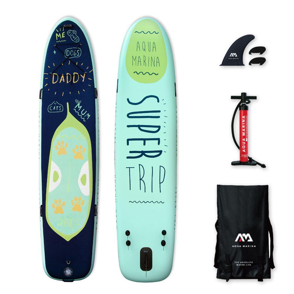 Aqua marina super reise 12' Aufblasbare SUP Stand up Paddle Board familie sup