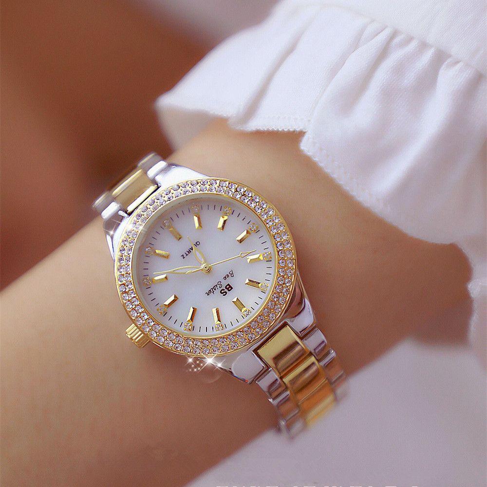 2018 Luxury Brand lady Crystal Watch Women Dress Watch Fashion Rose Gold Quartz Watches Female Stainless Steel Wristwatches