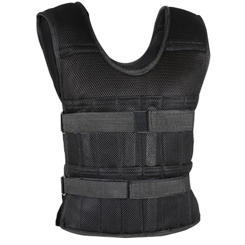 Adjustable Weight Vest 50kg 20kg 15kg Running Workout Training Waistcoat Sand Weighted Sandbag Vest Loading Weighted Vest