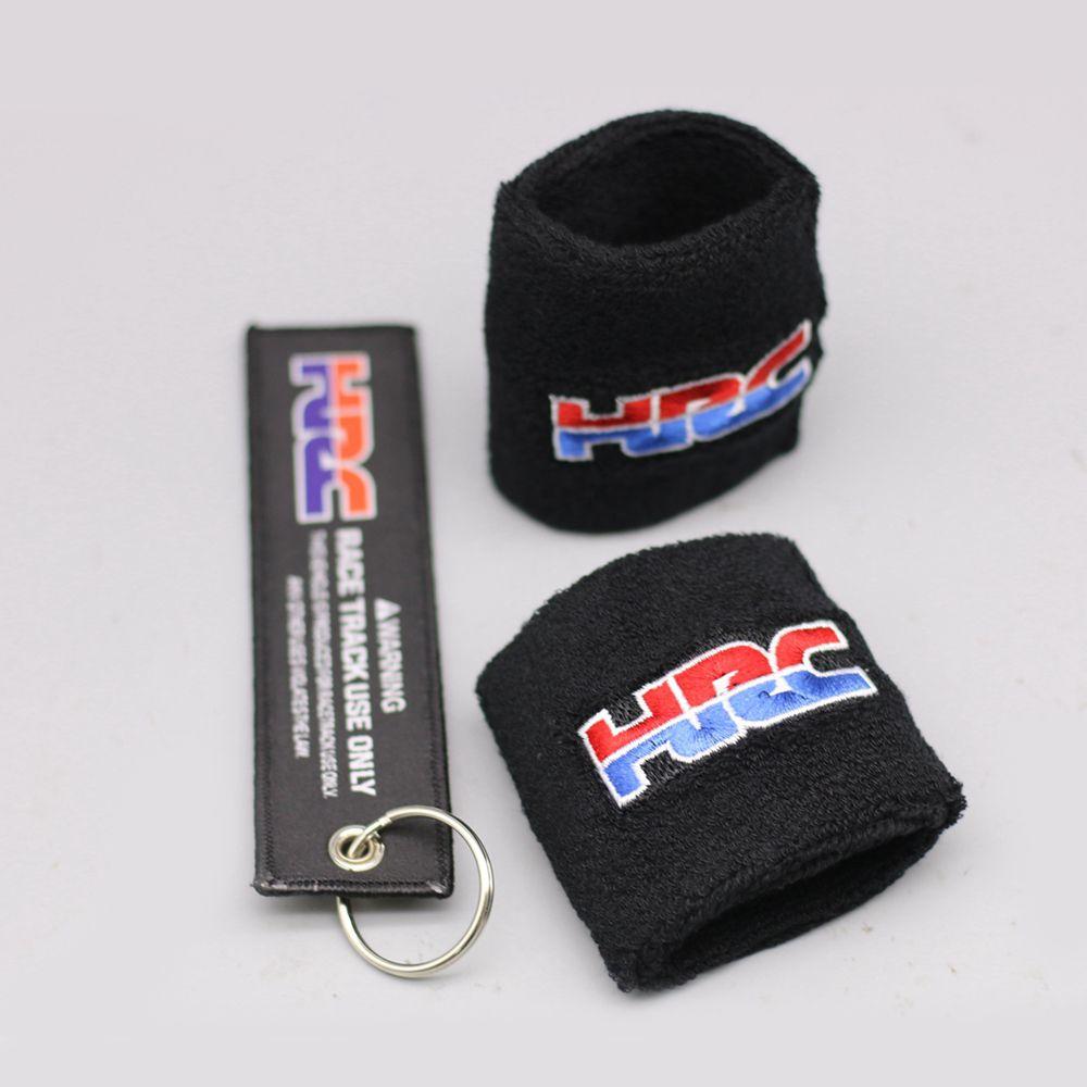Universal HRC Motorcycle Brake Fluid Reservoir Clutch Tank Oil Cup Cover Socks For Honda CBR 600RR 1000RR 900RR 929RR 954RR