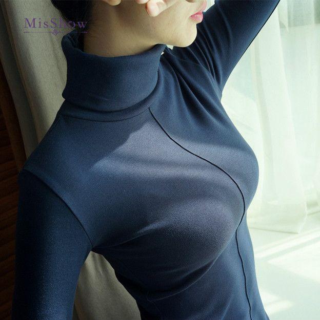 Pull Femme doux Style coréen maigre hiver col roulé femmes moulante base pulls à manches longues Pull Femme manteau Femme haut