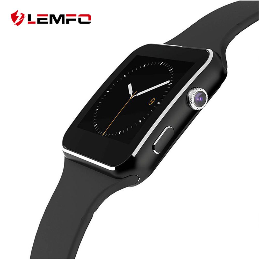 LEMFO New Mens Smart Watch Support Bluetooth Dial Call SIM Camera Pedometer Sleep Monitoring Men Wrist Watch For Android Phone