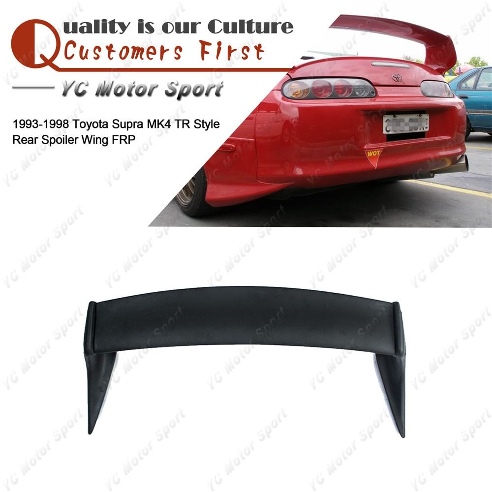 Car Accessories FRP Fiber Glass Rear Spoiler Fit For 1993-1998 Supra MK4 TR Style Rear Trunk Spoiler Wing