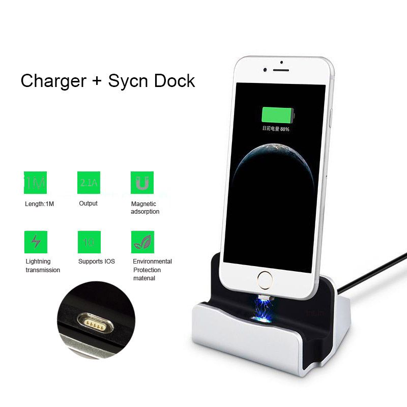 New Universal Magnet Adsorb Charger Sync Dock Station Magnetic Charger USB Cable Charging For iPhone 6 6s 7 8 Plus Micro Type C