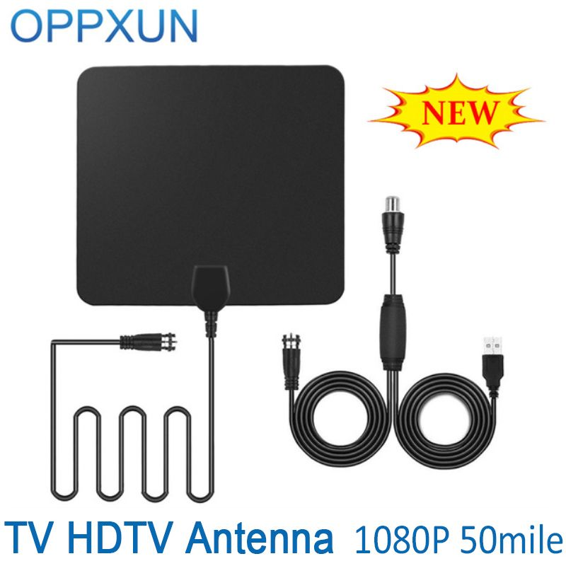 Pictek Amplified HDTV uhf tv  Antenna with 50 Mile Range F Male Connector Ultra-thin Digital  Capture Cable Signal Amplifier