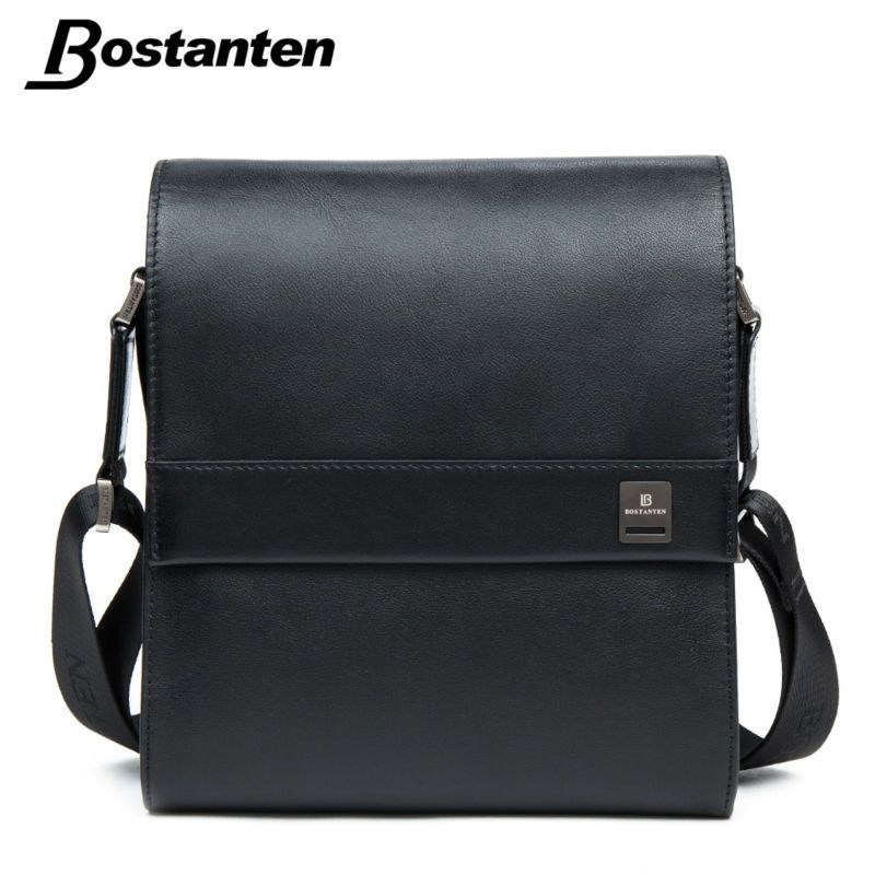 Bostanten Man Vertical Genuine Leather bag Men Messenger Business Men's Briefcase Designer Handbags High Quality Shoulder Bags