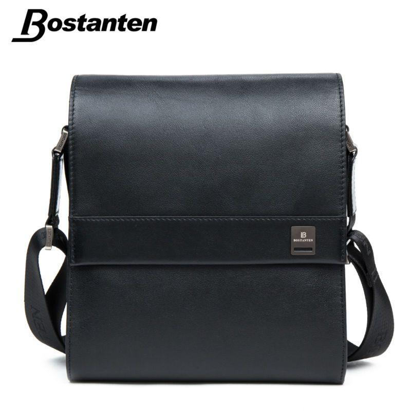 Bostanten homme Vertical en cuir véritable sac hommes Messenger affaires hommes porte-documents Designer sacs à main de haute qualité sacs à bandoulière