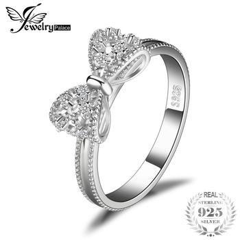 JewelryPalace Arco Aniversário Anel De Casamento Para As Mulheres Soild 925 Sterling Silver Jóias Para A Menina Amigo Presente Do Partido