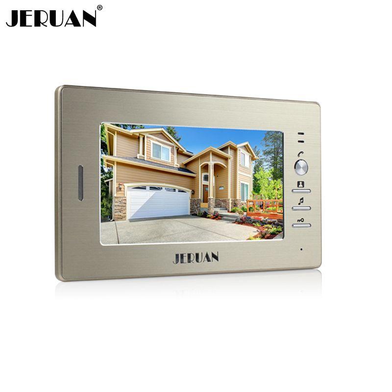 JERUAN 7 pulgadas color video de la puerta sistema de intercomunicación del teléfono sólo monitor 720G interior + adaptador de corriente