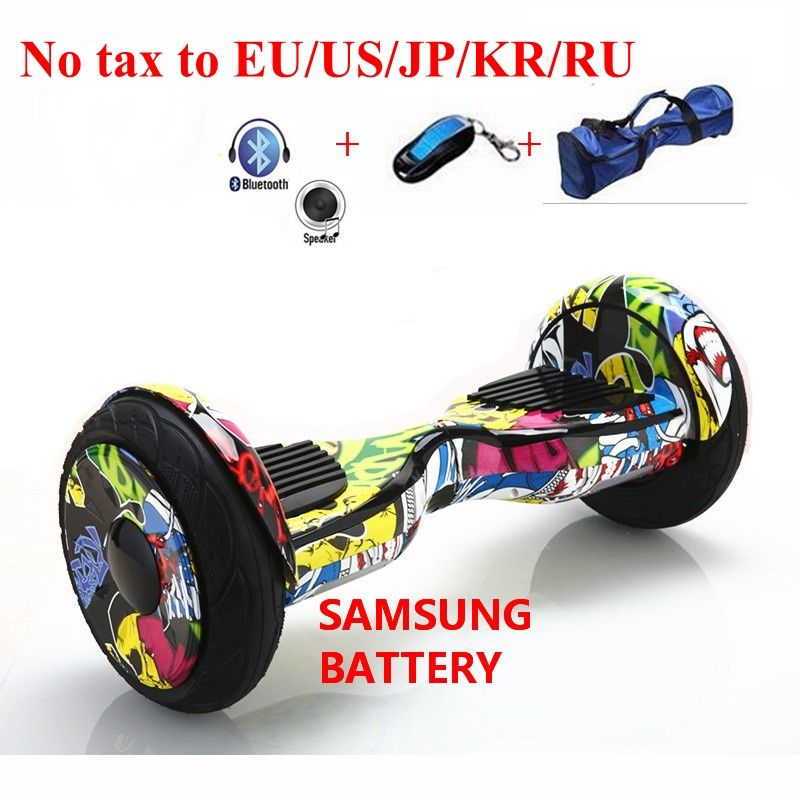 No tax to US/EU/JP/KR 10 inch Electric Scooter Bluetooth Balancing Hoverboard self Smart Balance Two 2 Wheel Standing Scooters