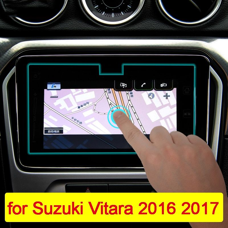 9inch Car Navigation Tempered Glass Screen Protector Steel Portective Film For Suzuki Vitara 4th 2015 2016 2017 2018 Accessories