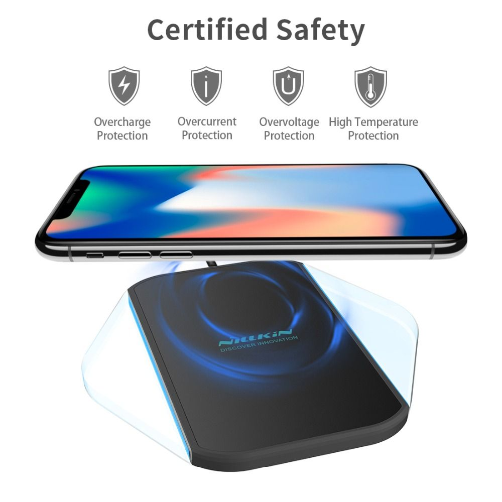 NILLKIN MagicCube qi wireless charger Pad for iPhone X 8 8 Plus wireless charging Device for For Samsung S9/S8/S8 Plus/Note 8