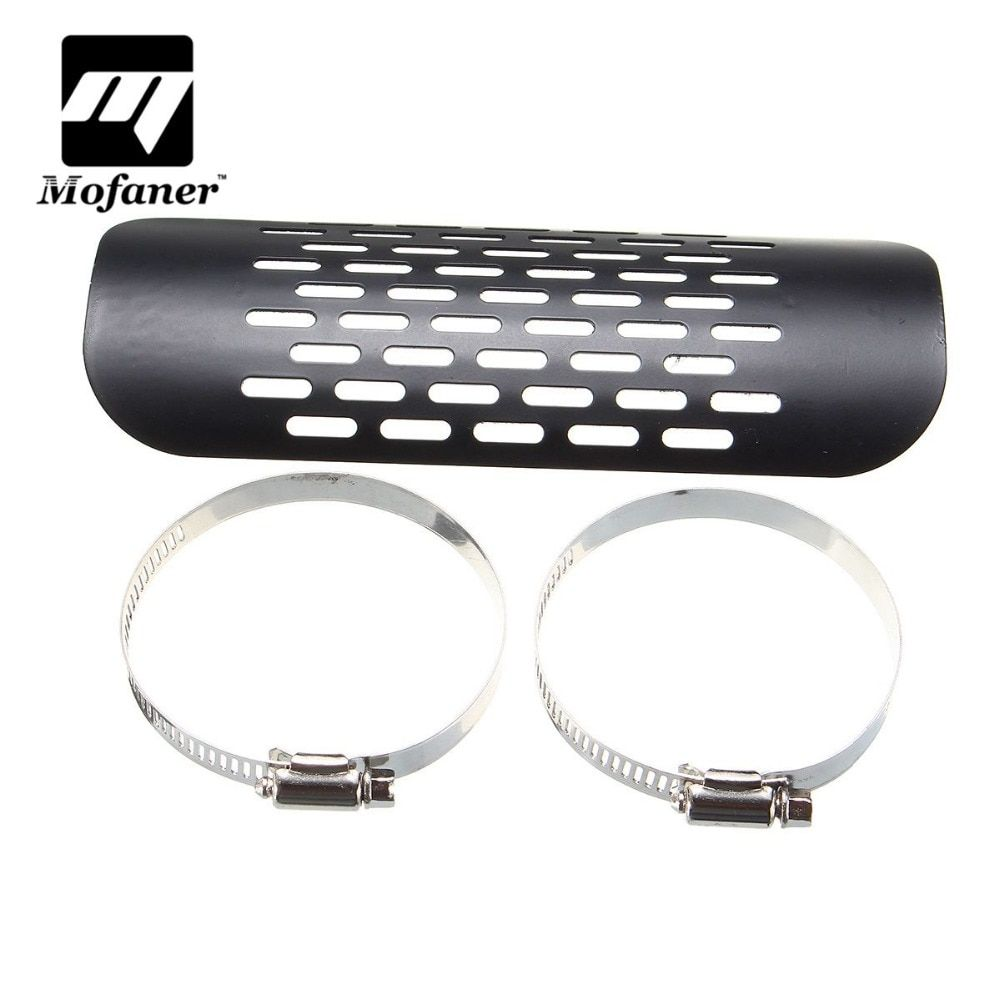 Motorcycle Exhaust Muffler Pipe Heat Shield Cover Guard For Harley Chopper Cruiser Black