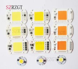 Led cob chip 110 V 220 V 9 W 10 W 20 W 30 W 50 W lámpara bombilla led entrada Smart IC Luz de inundación
