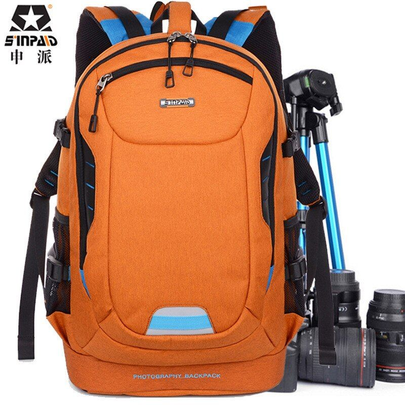 Photo Ultra Durable Wear-resistant Waterproof Anti-theft Prevent Vibration Travel Camera Bag SLR Laptop Tripod Backpack Bag Case