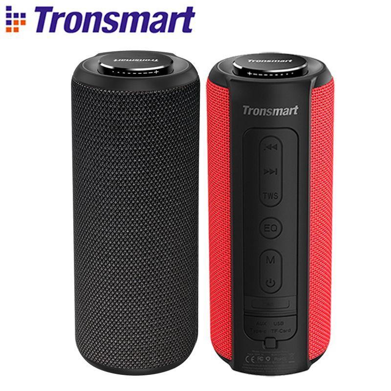 Tronsmart T6 Plus haut-parleur Bluetooth 40 W haut-parleur Portable barre de son basse profonde avec IPX6 étanche, fonction de batterie externe SoundPulse