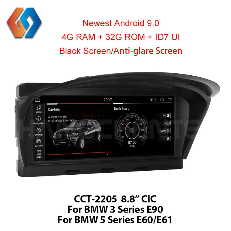 For BMW E60 E90 Android 9.0 Car Multimedia GPS Navigation WiFi BT Multi-point Touch Screen Phone Mirror CIC System Nav Unit 5