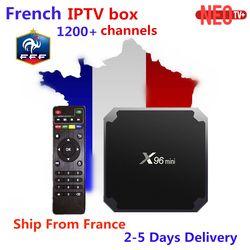 Français IPTV X96 mini Android 7.1 Smart TV BOX 2g 16g 1g 8g + 1200 + NEOTV Arabe Beigium Maroc PayTV et VOD smart Set top Box tv