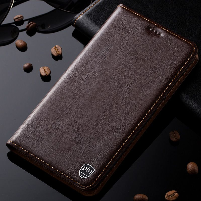 For Sony Xperia Z L36h C6602 C6603 Case Genuine Leather Cover Magnetic Stand Flip Phone Case