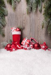 Christmas shoes Photography Background christmas wall decors backdrop XT-4544