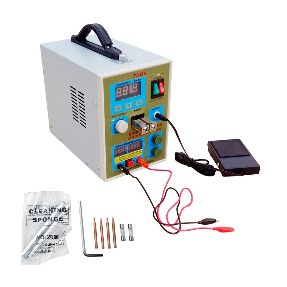 LED Pulse Battery Spot Welder 788H Welding Machine Micro-computer 18650 Battery Charger 800 A 0.1 - 0.2 Mm 36 V with LED Light